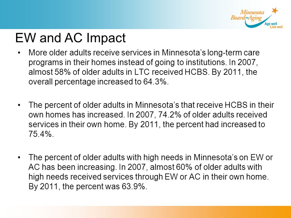 Minnesota's ADRC Why is this service important.