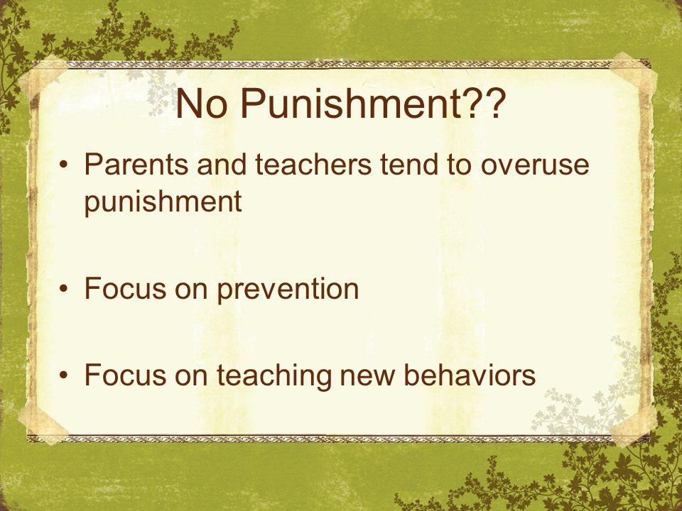 No Punishment .