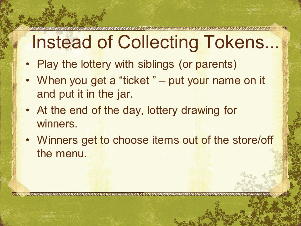 Instead of Collecting Tokens...