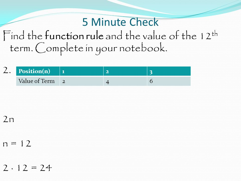 Function and Equations Agenda Notes No Homework – Homework Practice 6.8.3 Due at the end of the period Mid-Chapter 6.8 Quiz – Tuesday, Nov 25