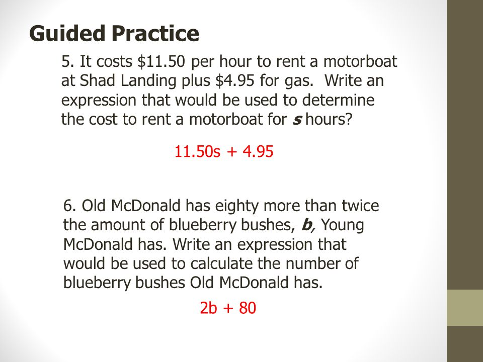 5. It costs $11.50 per hour to rent a motorboat at Shad Landing plus $4.95 for gas.