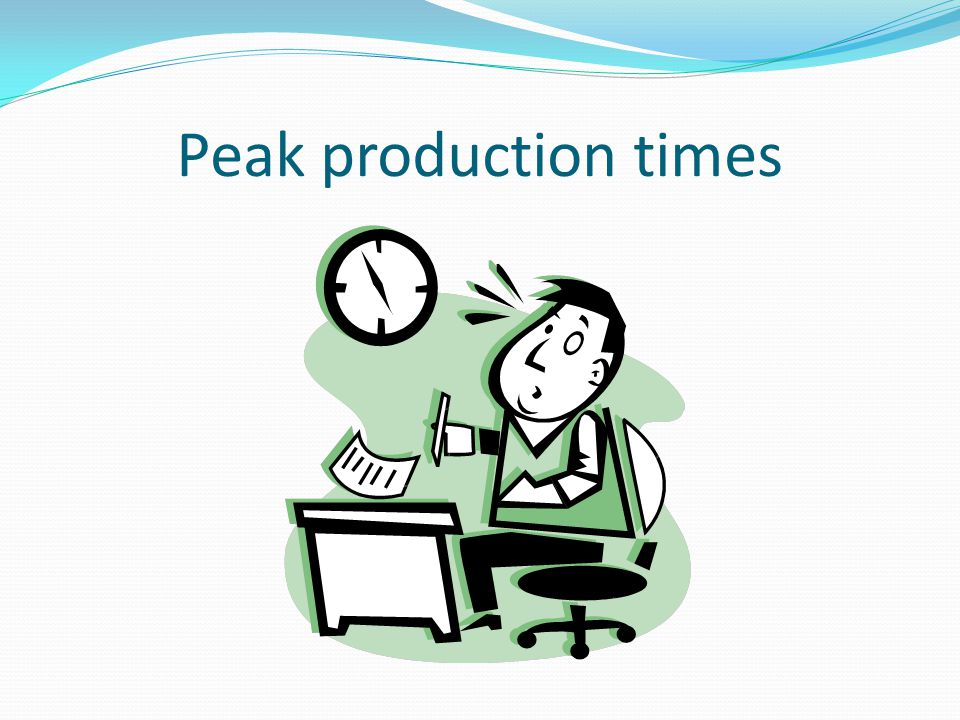 Peak production times