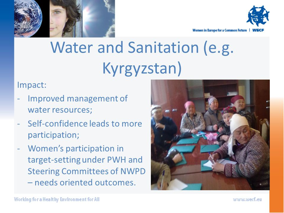 Water and Sanitation (e.g.