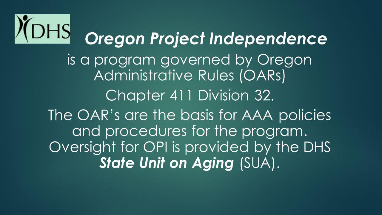 Oregon Project Independence The Basics