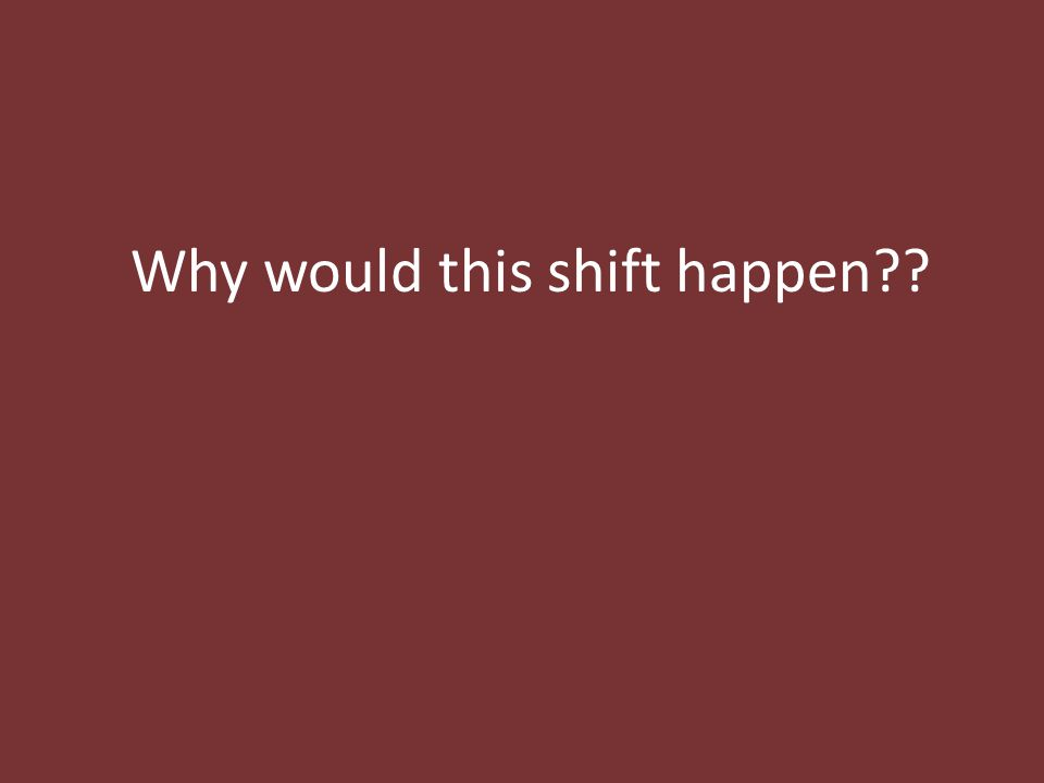 Why would this shift happen??
