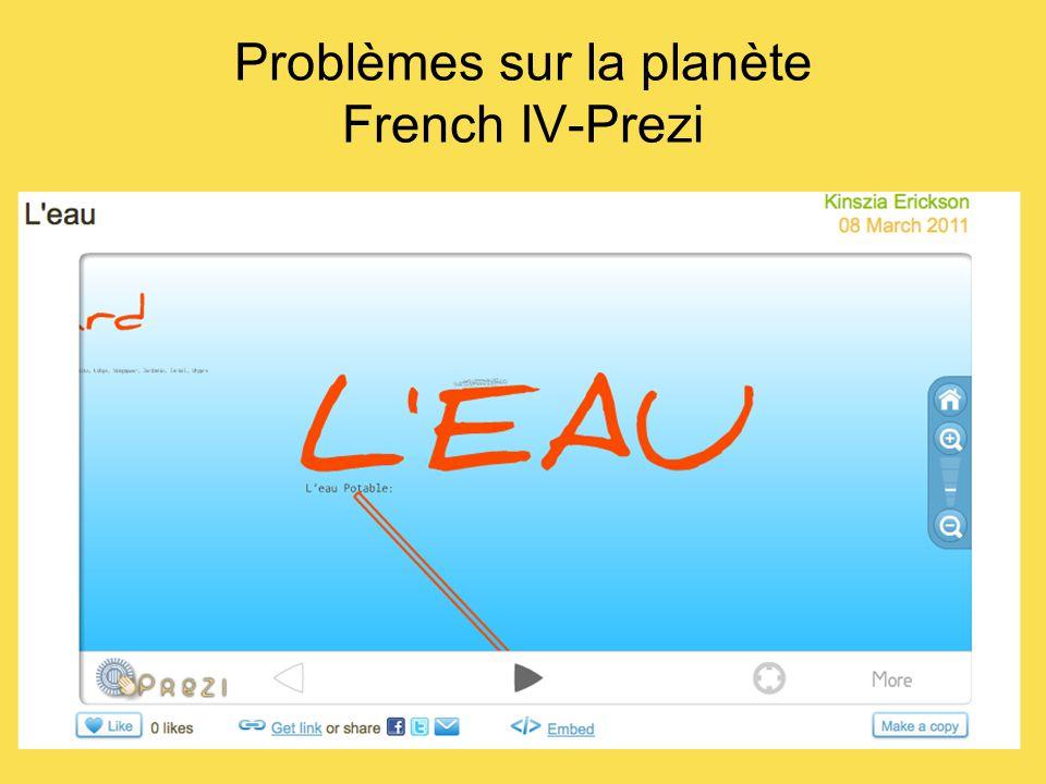 Problèmes sur la planète French IV-Prezi