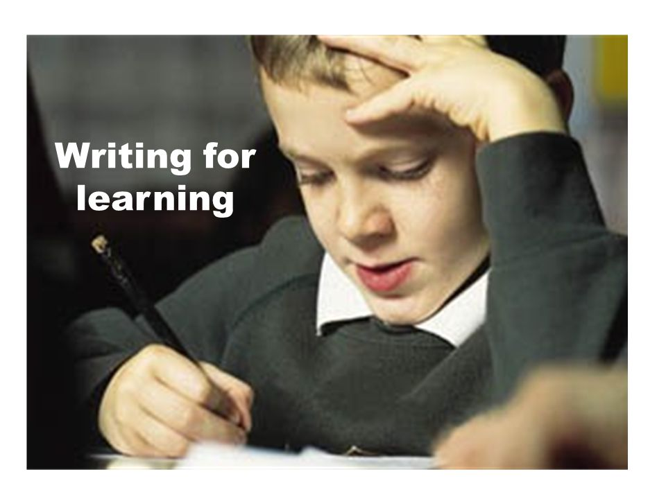 Writing for learning