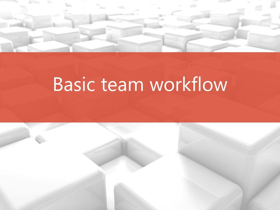 Basic team workflow