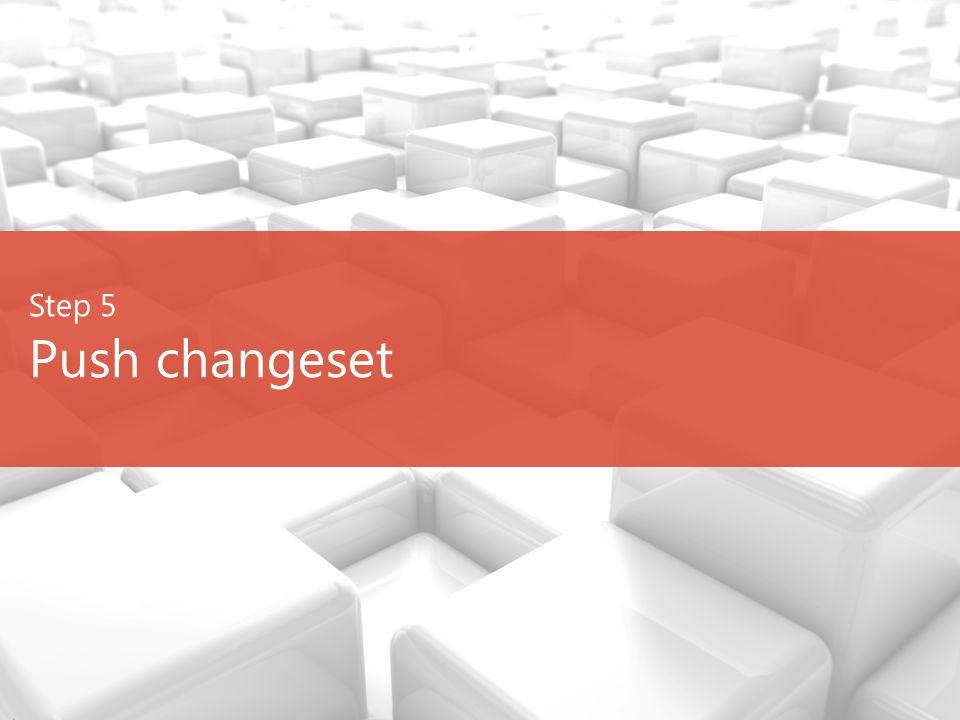 Step 5 Push changeset