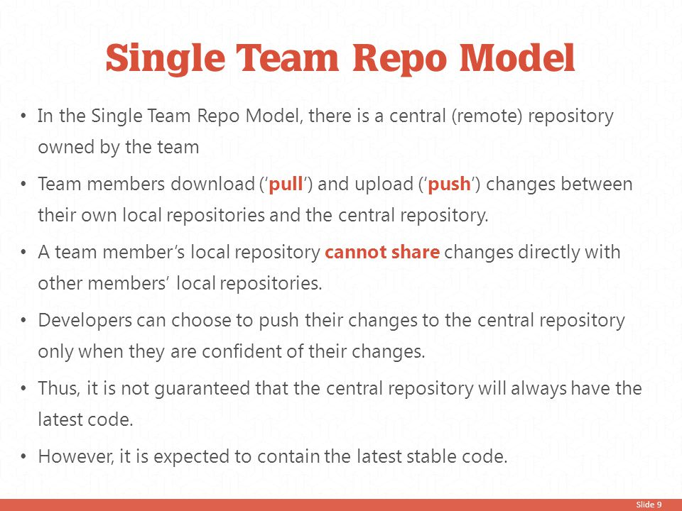 Slide 60 Merge changesets You may encounter this common scenario Greg pushed his code to the repository.