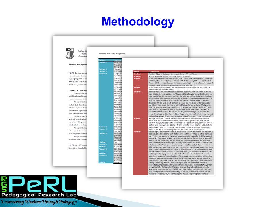 Uncovering Wisdom Through Pedagogy Methodology