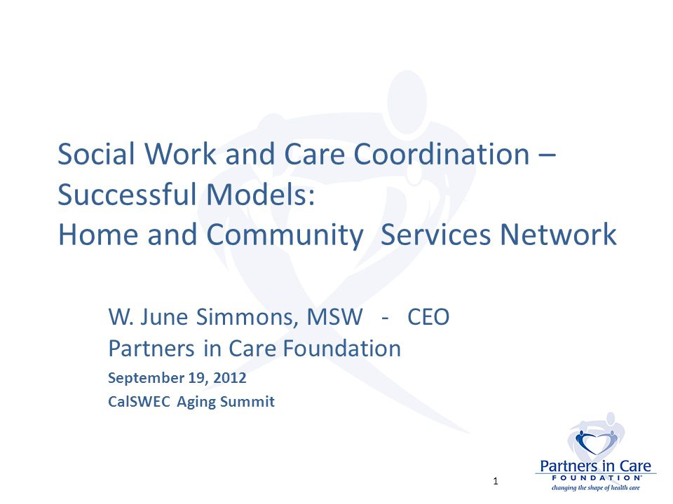 Agenda An historic opportunity for positive change Addressing social, environmental and self-care components that drive health outcomes Unique characteristics required in changing environment – a new business model – Strategies for LTSS impacting Medicare and Medi- Cal service use/health outcomes – Home & Community Services Network 2