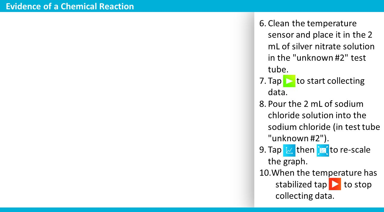 6.Clean the temperature sensor and place it in the 2 mL of silver nitrate solution in the
