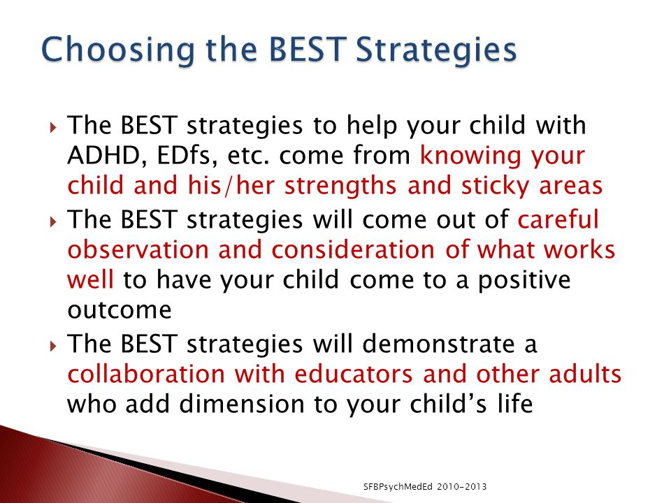  The BEST strategies to help your child with ADHD, EDfs, etc.