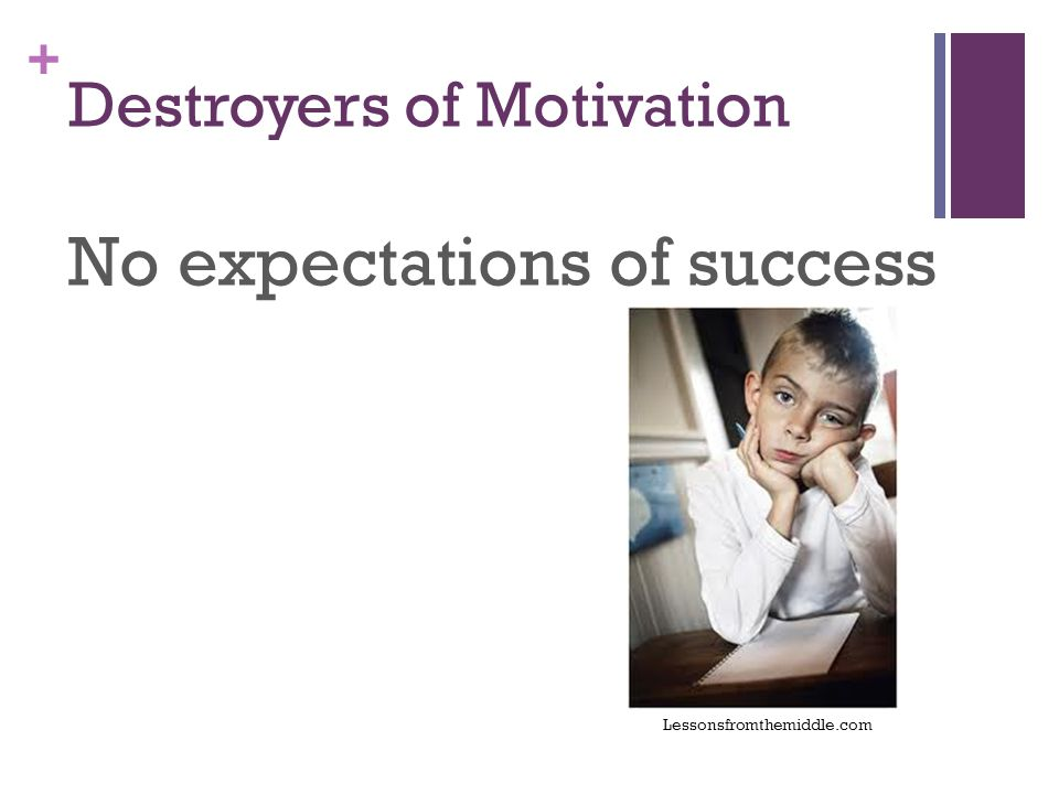 + Destroyers of Motivation No expectations of success Lessonsfromthemiddle.com