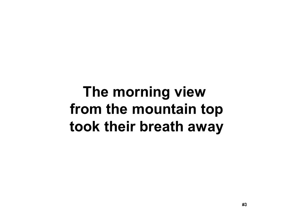 The morning view from the mountain top took their breath away #3