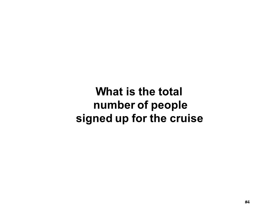 What is the total number of people signed up for the cruise #4