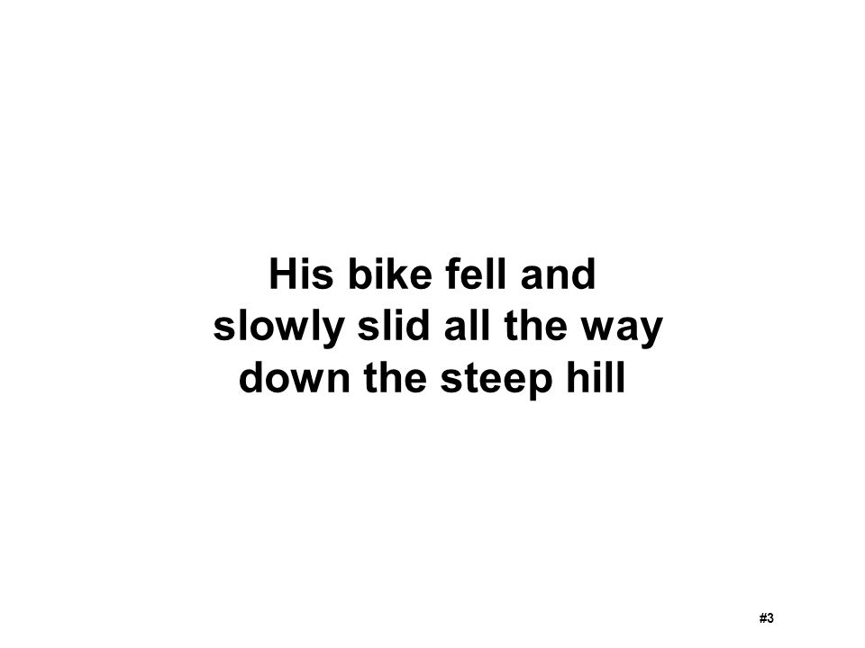 His bike fell and slowly slid all the way down the steep hill #3