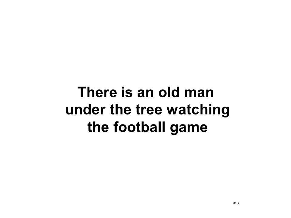 There is an old man under the tree watching the football game # 3