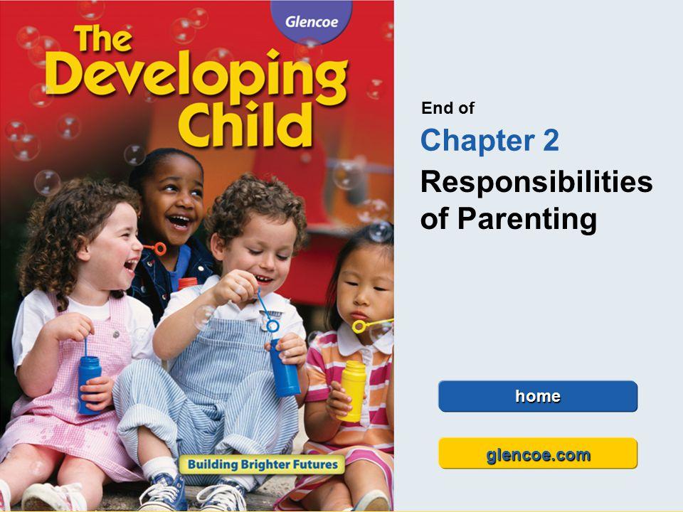 Glencoe The Developing Child Chapter 2 Responsibilities of Parenting Chapter 2 Responsibilities of Parenting 36 End of Chapter 2 Responsibilities of P