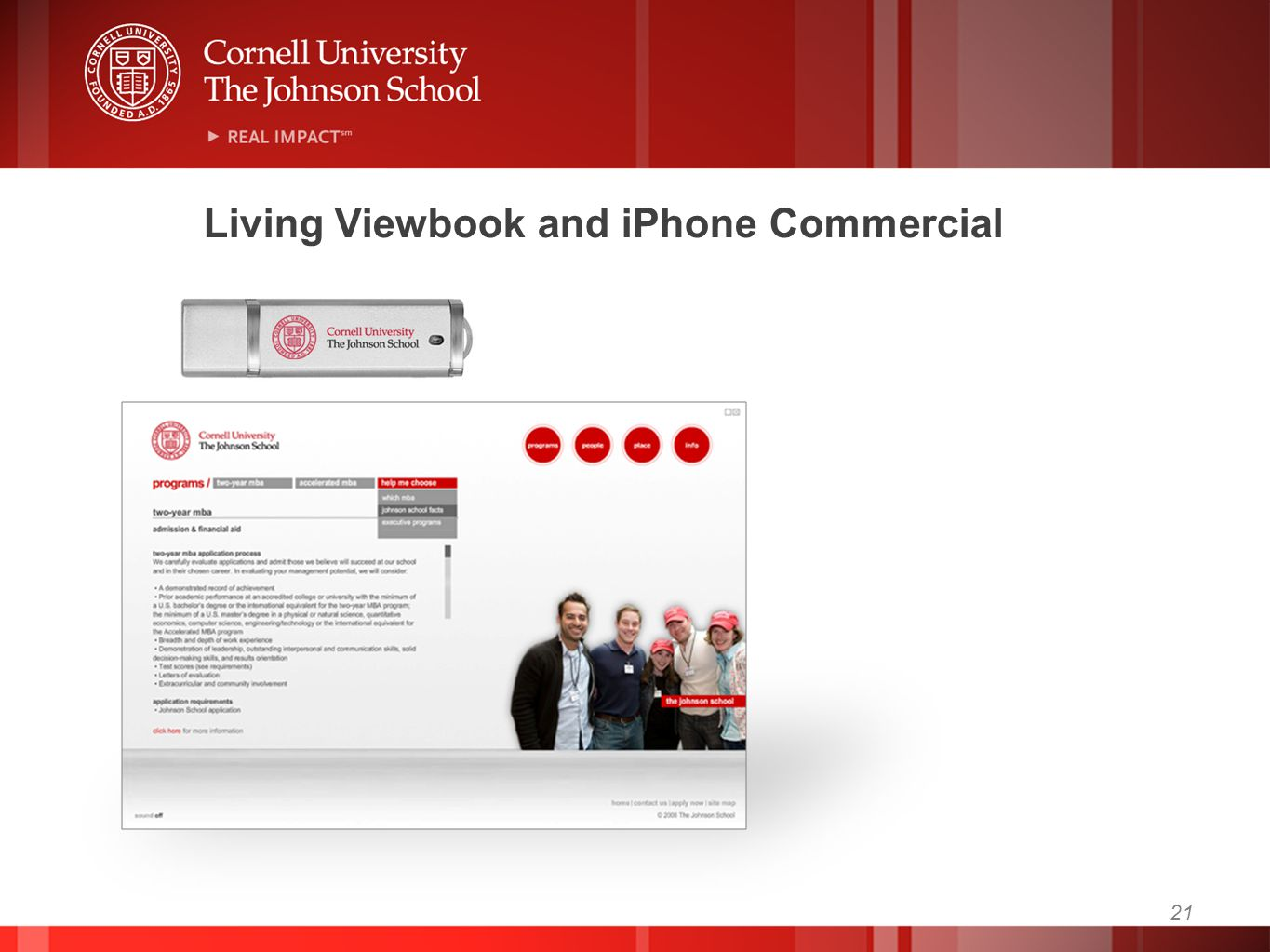 Living Viewbook and iPhone Commercial 21