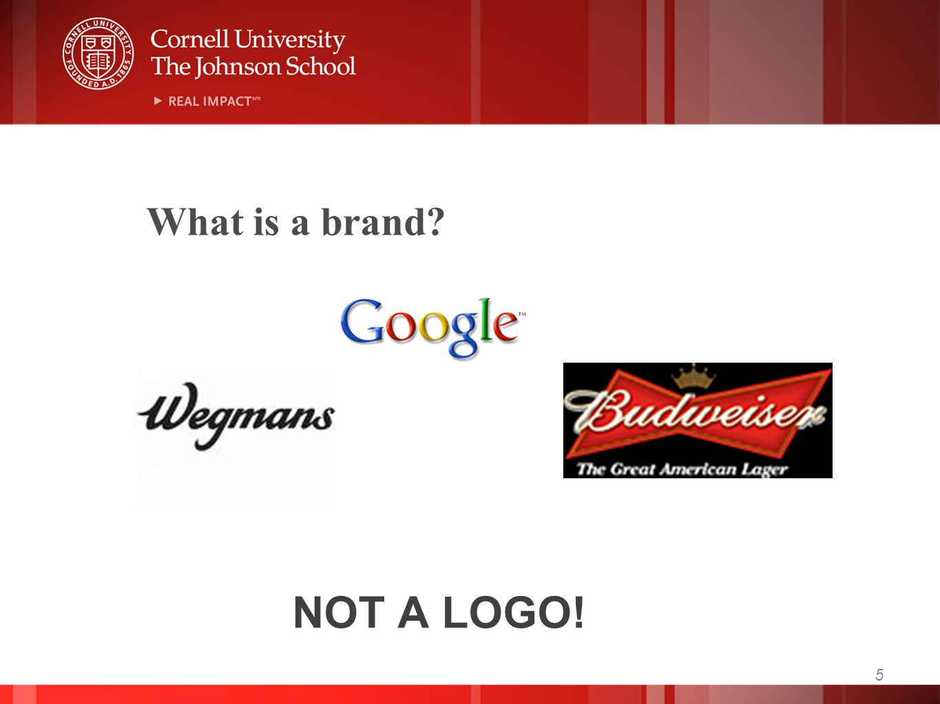 NOT A LOGO! 5 What is a brand?