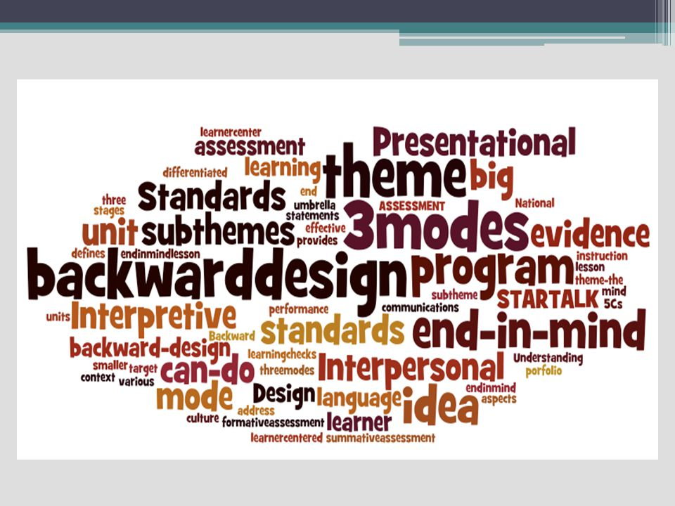 The 5 C's-National Standards