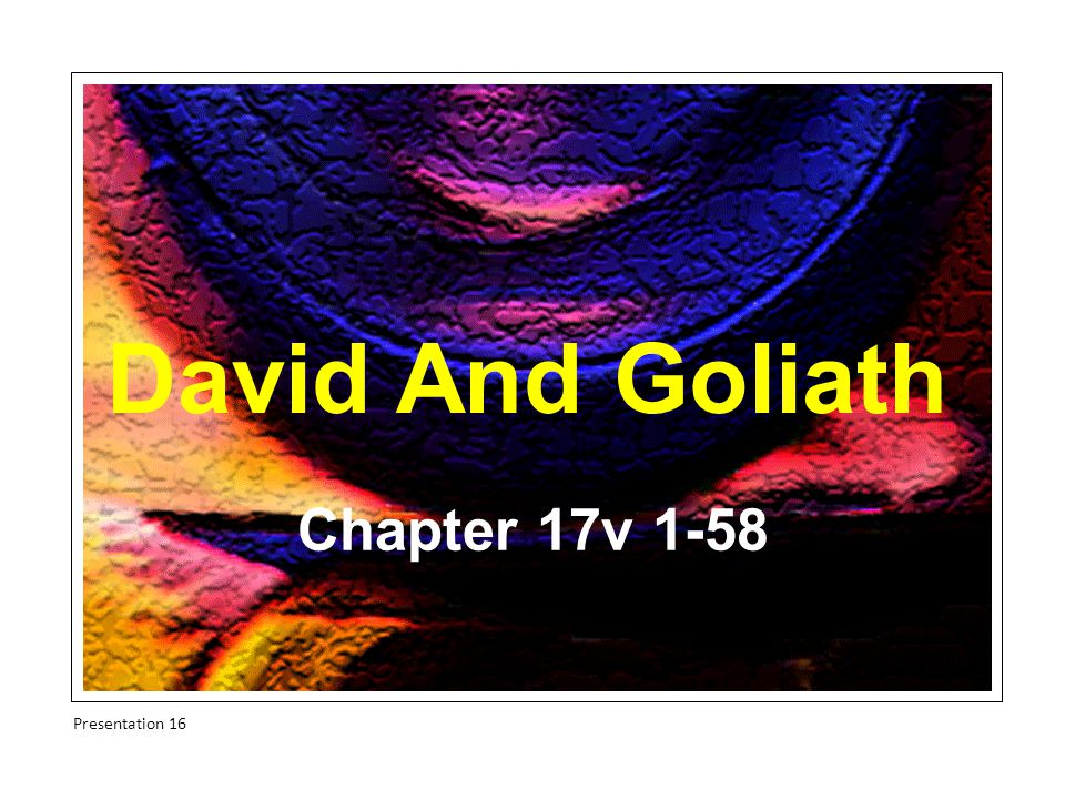 David's Victory Compare on a map David s victory with that of Saul in 14v23,46.