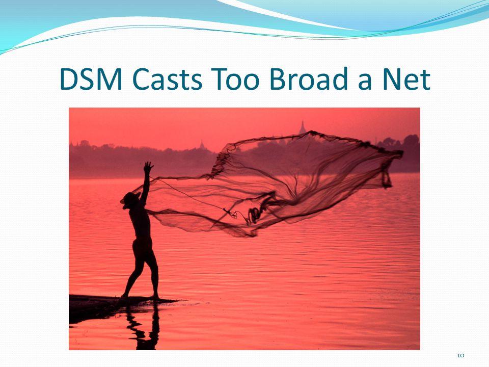 DSM Casts Too Broad a Net 10