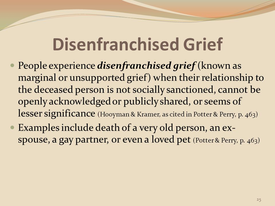 Stages of Grieving/Dying 26