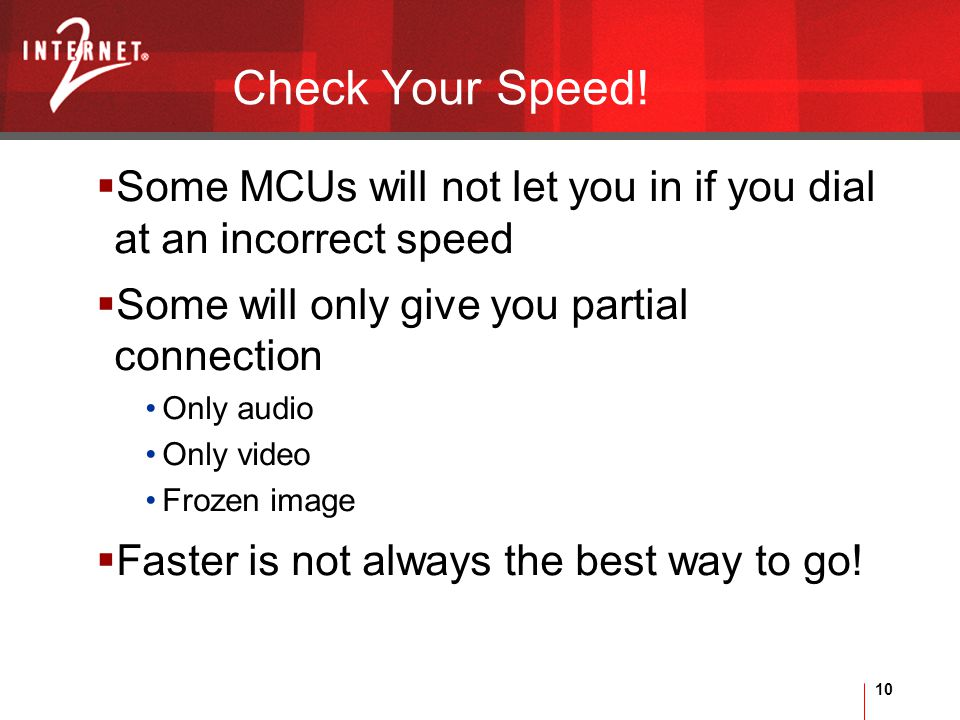 10 Check Your Speed.
