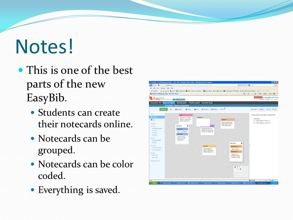 Outline On the same page with the notecards, you will find a place to create an outline.