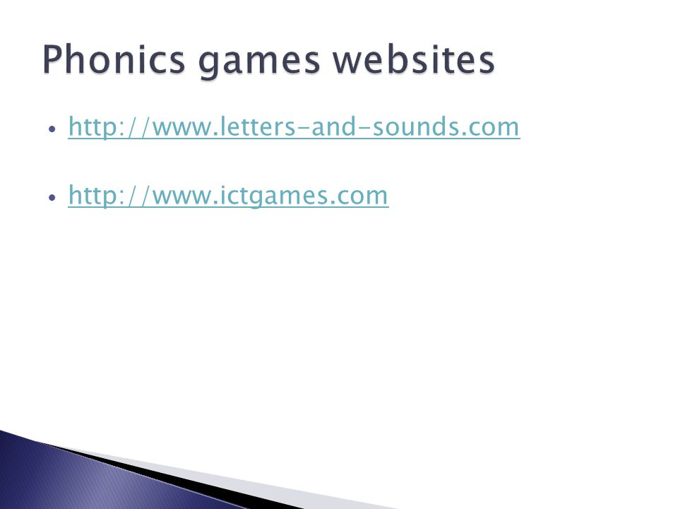 http://www.letters-and-sounds.com http://www.ictgames.com