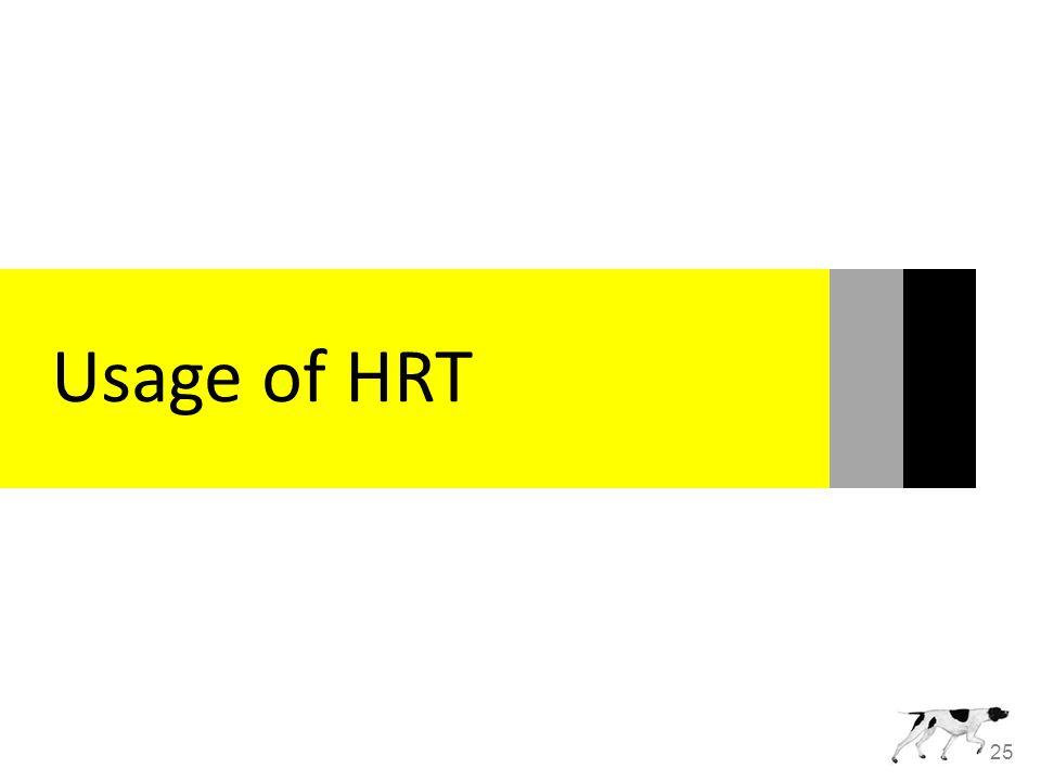 25 Usage of HRT