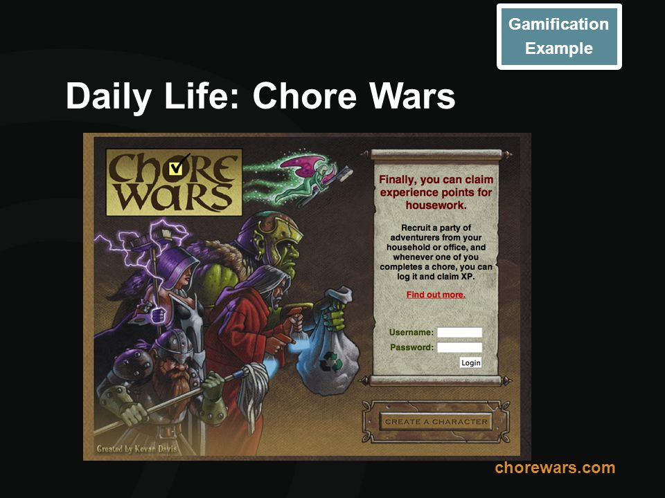 Daily Life: Chore Wars Gamification Example chorewars.com