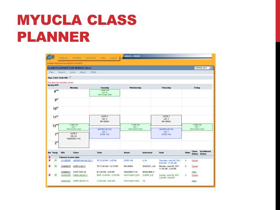 MYUCLA CLASS PLANNER