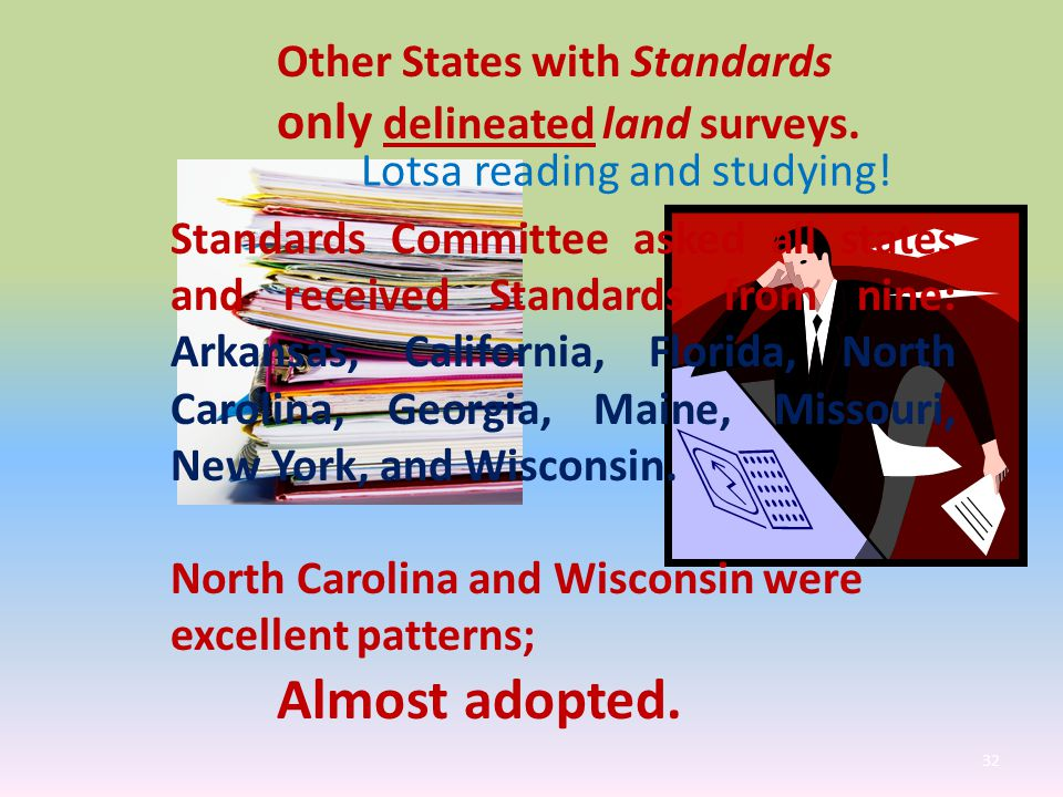 Other States with Standards only delineated land surveys.