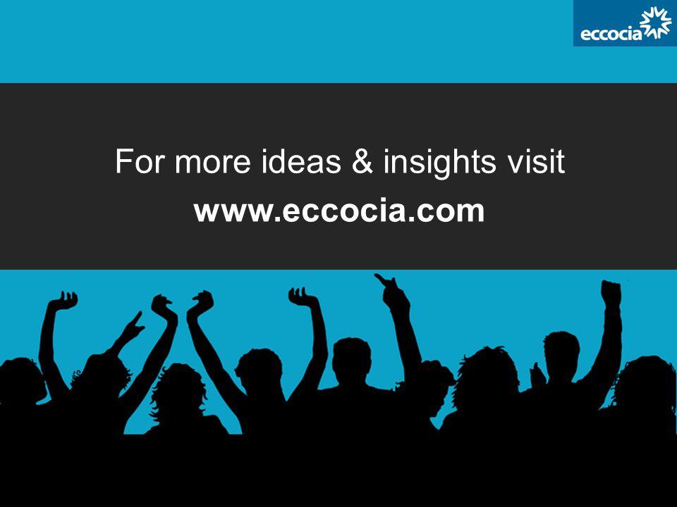 For more ideas & insights visit www.eccocia.com