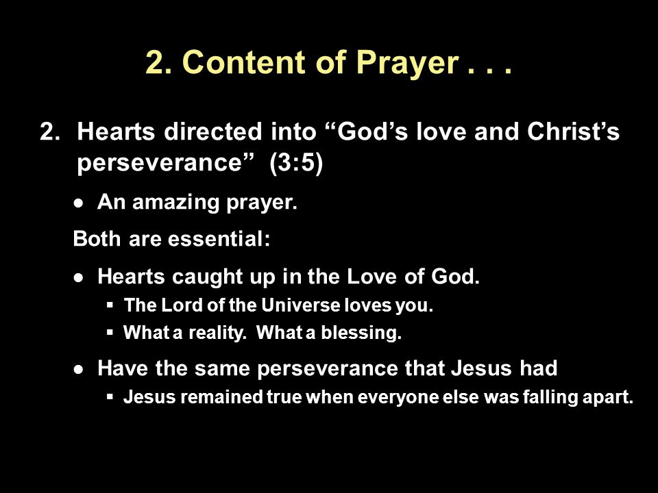 2. Content of Prayer...