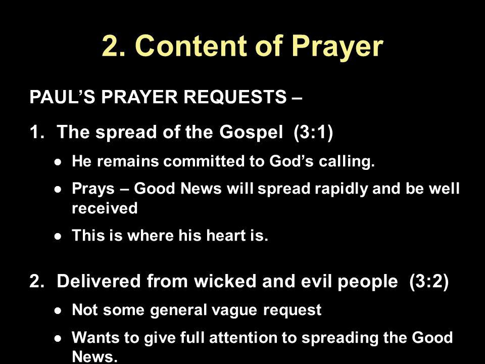 2.Content of Prayer...
