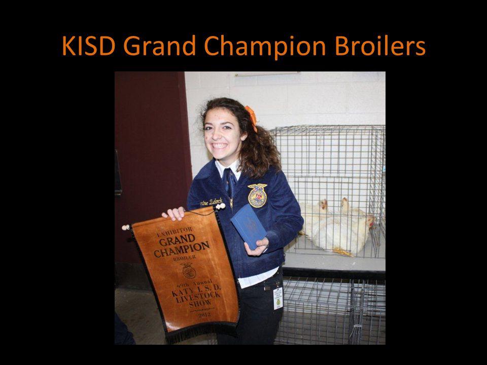 KISD Grand Champion Broilers