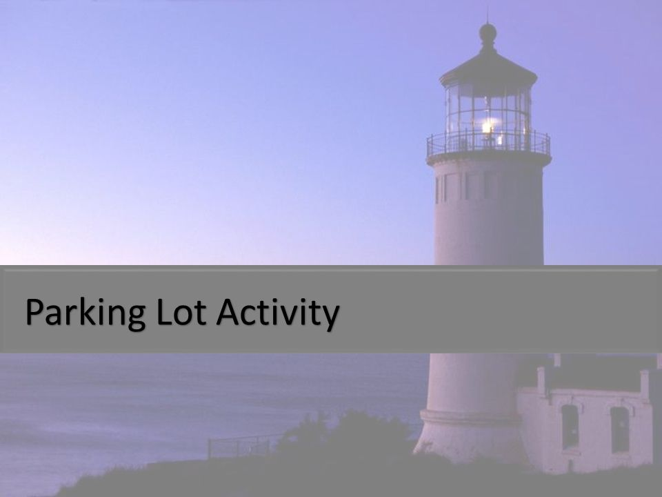 Parking Lot Activity