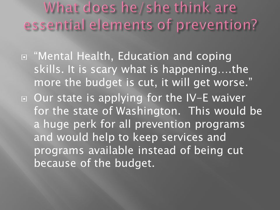  Mental Health, Education and coping skills.