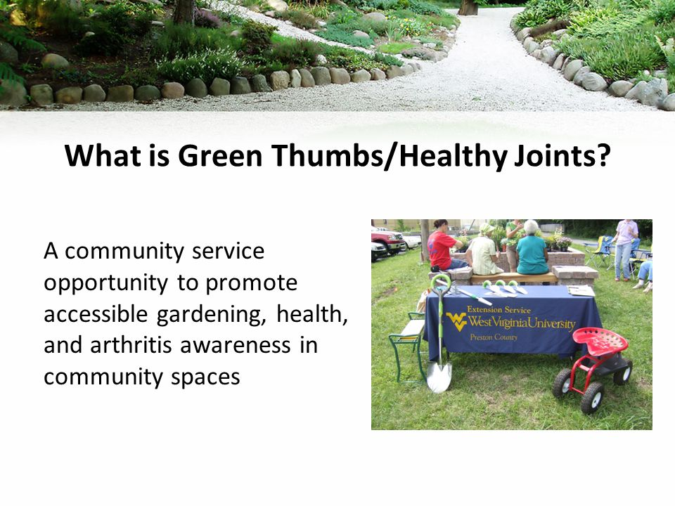 What is Green Thumbs/Healthy Joints.