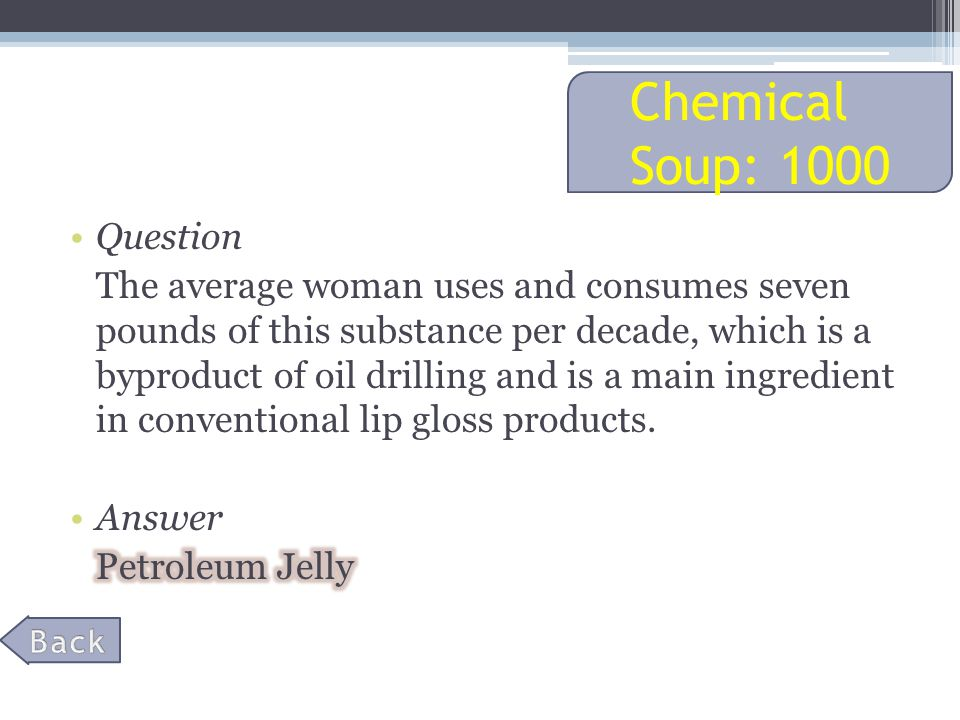 Chemical Soup: 1000
