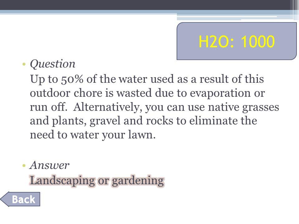 H2O: 1000