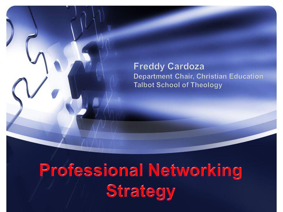Freddy Cardoza, Ph.D. Department Chair, Christian Education Talbot School of Theology November 2014