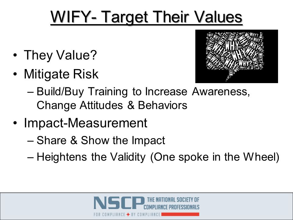 WIFY- Target Their Values They Value.