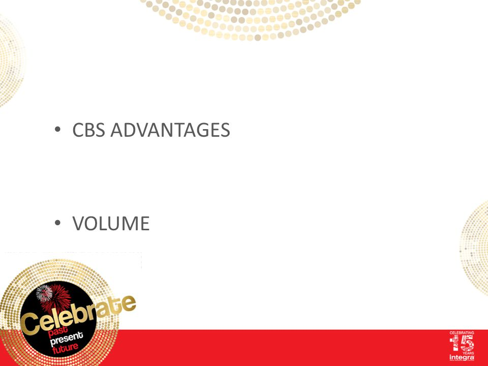 CBS ADVANTAGES VOLUME
