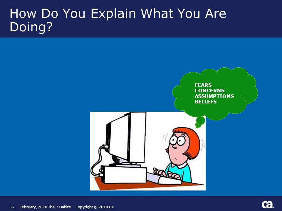 ® How Do You Explain What You Are Doing.